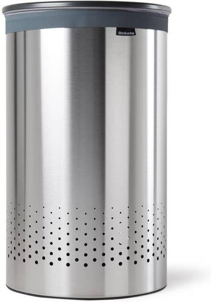 Brabantia Wasbox 50 Liter Matt Steel.Brabantia Wasbox 60 Liter Met Dark Grey Kunststof Deksel En Uitneembare Waszak Matt Steel 105166