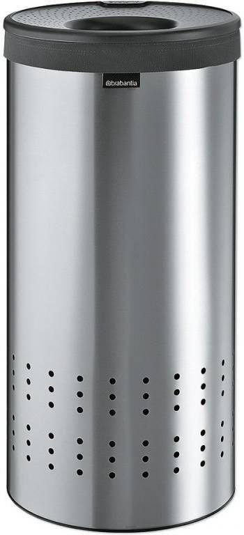 Brabantia Wasbox 50 Liter Matt Steel.Brabantia Wasbox 35 Liter Met Dark Grey Kunststof Deksel En Uitneembare Waszak Matt Steel 103469
