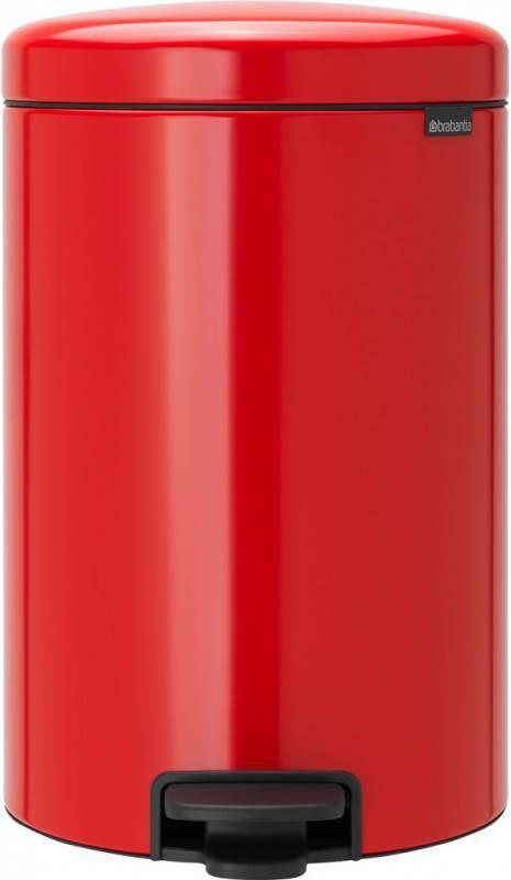 Brabantia 20 Liter Pedaalemmer.Pedaalemmer Newicon 20 Ltr Brabantia Passion Red
