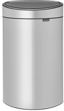 Brabantia Prullenbak 40 Liter.Brabantia Touch Bin Prullenbak 40 L Metallic Grey